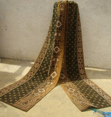 2  Curtains cut velvet  French antique 18th-cent  Palmettes Bees Stylized