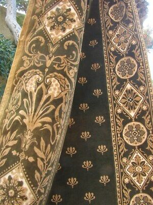 Second  :2  Curtains  cut Velvet  French antique 18th-cent Bees Stylized
