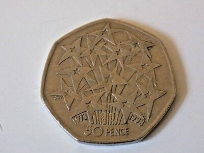 UK Entry Into EU 50p Fifty Pence Piece Coin Hunt 1998 Brexit interest