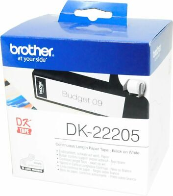 0,69€/1m DK-22205 Endlos-Etikett 62mm x 30,48m brother P-Touch QL-700 710W 720NW