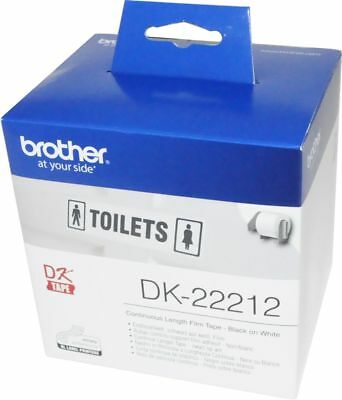 2,74€/1m brother DK-22212 Endlos-Etikett Endlosetiketten Film 62mm x 15,24m
