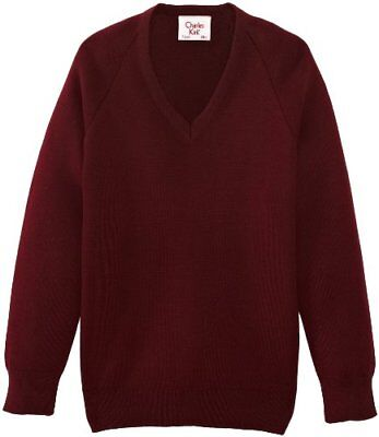 (TG. C46 IN- UK) Rosso (Maroon) Charles Kirk Coolflow - Maglia jumper con collo