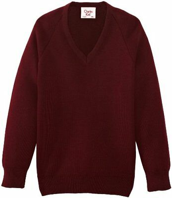 (TG. C44 IN- UK) Rosso (Maroon) Charles Kirk Coolflow - Maglia jumper con collo