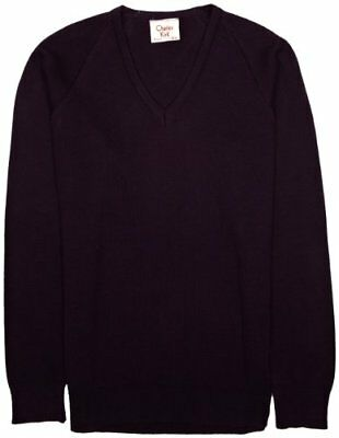 (TG. C32 IN- UK) Viola (Mauve) Charles Kirk Coolflow - Maglia jumper con collo a