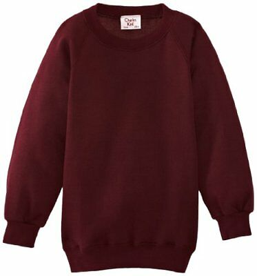 (TG. C36 IN- UK) Rosso (Maroon) Charles Kirk Coolflow - Felpa, colletto tondo, ,