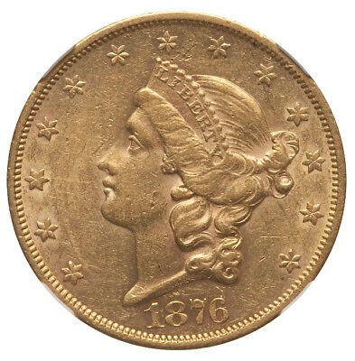 1876-S $20 Dollar Gold Double Eagle