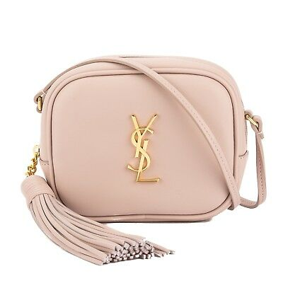 Ysl Blogger Bag In Powder Pink With Gold Hardware