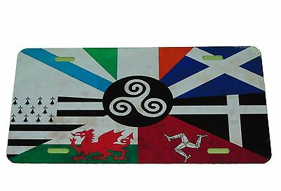 Celtic Nations Flag License Plate 6 X 12 Inches New Aluminum