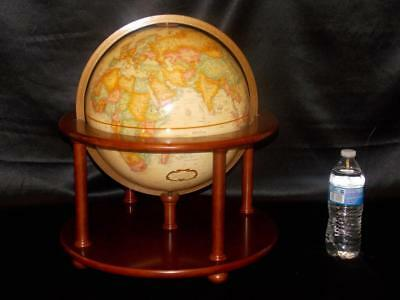 "Replogle 12""Globe Platinum Classic Series Wood Base 1997 Bombay 16"" x 17-1/2 H"