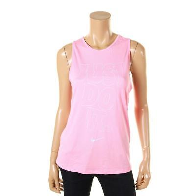 Nike 1078 Womens Pink Graphic Yoga Fitness Tank Top Athletic S BHFO
