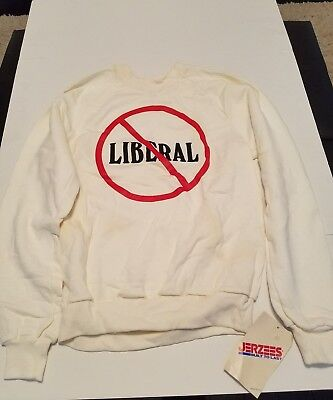 Vintage Jerzees Sweatshirt Political No Liberal Size Medium