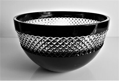 "Waterford John Rocha / Ajka Black Cased 8"" Bowl, New Without Box, No Stamp"
