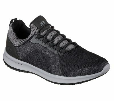 Details about Skechers 65509 USA Mens Relaxed Fit Delson Brewton Sneaker Choose SZColor.