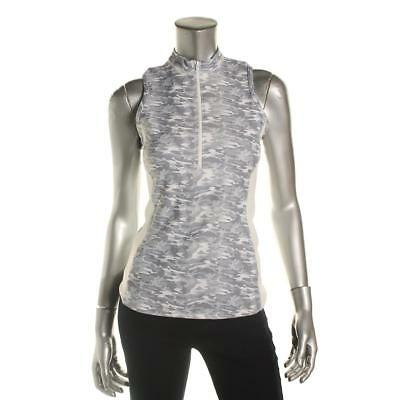Prismsport 8957 Womens Gray Colorblock Camouflage 1/2 Zip Shirts & Tops S BHFO