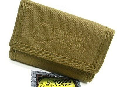 VOODOO TACTICAL Coyote TRI-FOLD Hook & Loop Wallet + Carabiner Clip 20-012407000