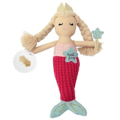 Mud Pie E8 Baby Boutique Girl Mermaid Tooth Fairy Doll Toy 5in 2112348