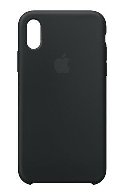 Apple Custodia Cover Per Iphone Xs Silicone Case Originale Nero Black