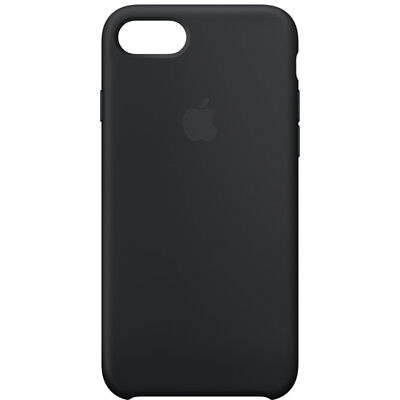 Apple Custodia Cover Per Iphone 7 8 4,7'' Silicone Case Originale Nero