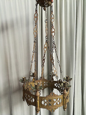 Antique French Church gothic Lustre Chandelier c823