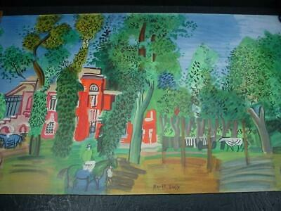 Noblespirit NO RESERVE {3970} Raoul Dufy Le Paddock Deauville 1960 Lithograph!