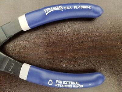 WILLIAMS PL-1600C-2 Snap Ring Pliers,External G6519348 2 piece