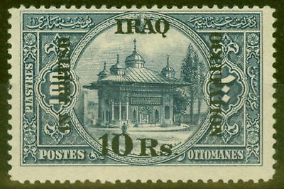 Iraq 1918 10R on 100pi Indigo SG14 V.F MNH