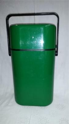 Retro Vintage Decor Insulated Wine Carrier Green