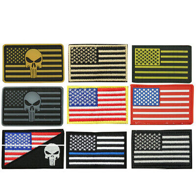 """SAS USA American United States Flag Embroidered Patch 3""""x2"""" or Rubber Tactical"""