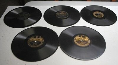 VINTAGE LOT OF 5 VERNON DALHART 78 rpm PHONOGRAPH RECORDS-10 INCH-MIXED LABELS