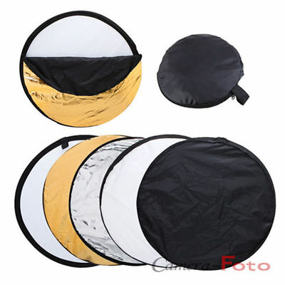 """80cm Reflector 5-in-1 Multi Collapsible Panel Photo Studio 32"""" UK Delivery"""