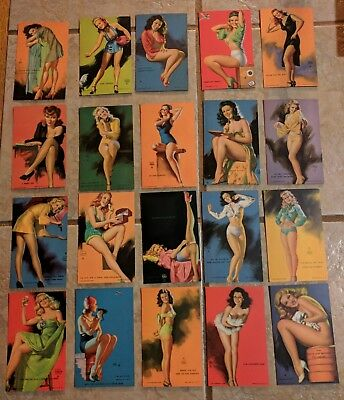 Lot Of 20 Vintage Mutoscope  Earl Moran Pinup Cards