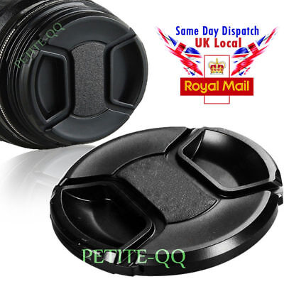 55mm centre pinch lens cap for Canon Nikon Sony Pentax Olympus SLR DSLR Camera