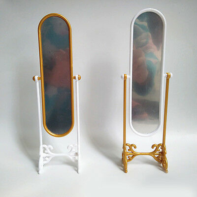 Miniature Furniture Dressing Fitting Mirror for Barbie Dollhouse Toys Eyeful