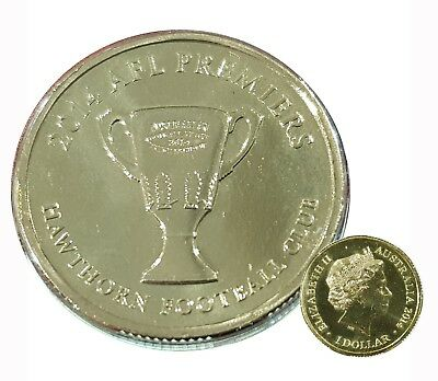 2014 Afl Hawthorn Premiers  $1 Unc Mint Coin - Not Issued For Circulation