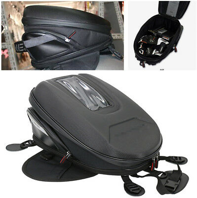 Waterproof Durable Carbon Fibre Look Great Capacity Motorcycle Tank Bag Luggage