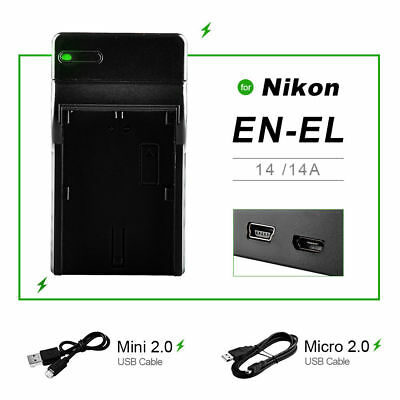 EN-EL14 USB Battery Charger for Nikon D3100 D3200 D5100 P7000 P7100 CoolPix UK