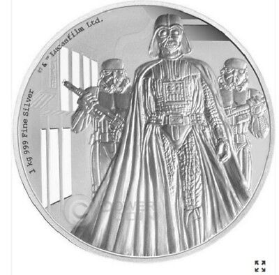 2016 $100 Niue - Star Wars - Darth Vader - 1kg Silver Proof - New Zealand Mint