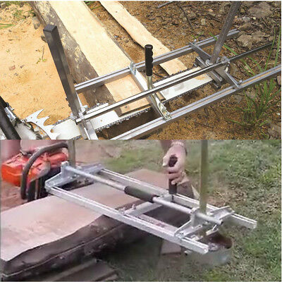 Portable Chainsaw Chain Saw Mill Planking Timber Milling Bar Size 14'' to 36''