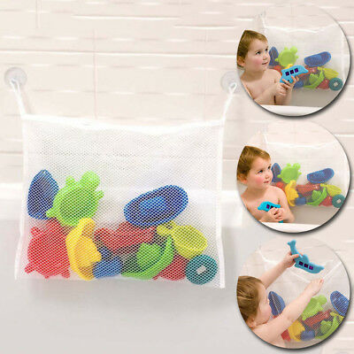 Doll Baby Toy Bath Bathroom Mesh Storage Bag Stuff Suction Bathtub Storage Net