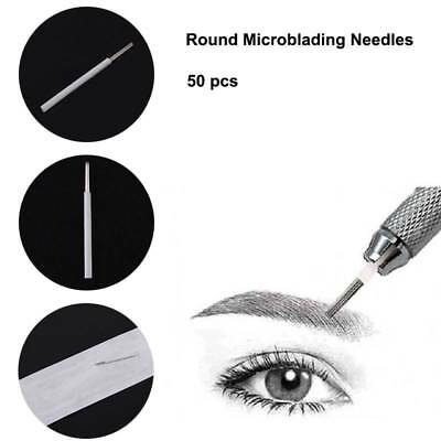 50pcs Round Microblading Needles For Permanent Makeup Fog Eyebrow Manual Pen