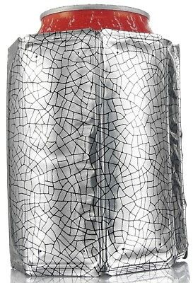 Vacu Vin Rapid Ice Can Cooler Chiller Jacket Sleeve Silver