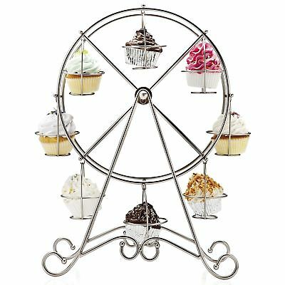 8 Cupcake Stand Ferris Wheel Display Holder Wedding Birthday Party Table Décor