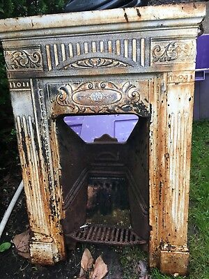 Victorian Cast Iron Fireplace & Basket