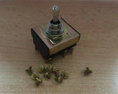 Panel Mount 3 Pole Double Throw Toggle Switch 10A 250V Screw Terminal     Z2340