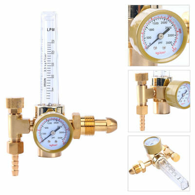 Brass Argon CO2 Mig Tig Flow meter Welding Weld Regulator Gauge Gas Welder G5/8