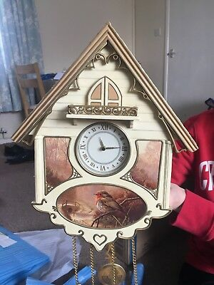 Bradford Editions cuckoo clock, Dawn's Bright Herald Sculpted Clock