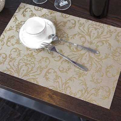 Modern Table Place Mats Insulation Placemats Pad Woven Coasters Effect Decor Set
