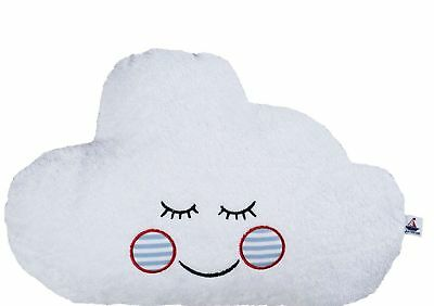 hansekind Pillow Clouds Blue Cuddly Terry Fabric Large Baby Kids Pillow 40 cm