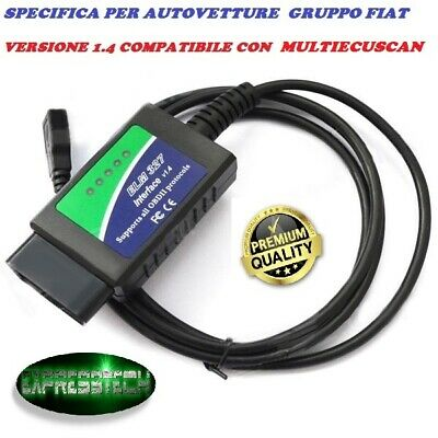 Ecuscan Fiat Alfa Elm 327 1.4 Diagnosi Universale Modificata Linea Can Obd2 Scan