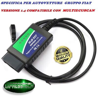Multiecuscan Fiat Alfa Elm 327 1.4 Diagnosi  Modificata Linea Can Obd2